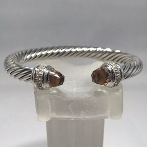 David Yurman Morganite & Diamonds 7mm Bracelet